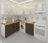 Bucătărie Bafimob Corner (High Gloss) 1.8x1.8m Beige/Brown