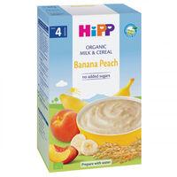 Hipp каша пшеничная молочная с бананом и персиком, 4+мес. 250г