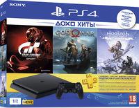 Sony Playstation 4 Slim 1TB + 3 Games (Horizon Zero Dawn + Gran Turismo Sport + God of War)