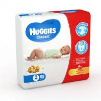 Huggies подгузники Classic 2, 3-6кг. 88шт