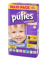 Pufies подгузники Baby ArtDry Maхi 4+, 9-16 кг 50 шт
