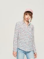 Блуза Sinsay Белый с цветами ux104-05x