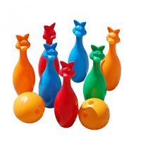 Кегли 7 + 2 шар зайцы арт. 024
