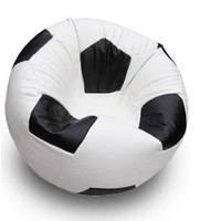Fotoliu - sac Football Big, alb/negru