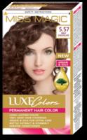 Vopsea p/u păr, SOLVEX Miss Magic Luxe Colors, 108 ml., 5.57 - Ciocolată cu lapte