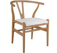 Деревянный стул с кожаным сиденьем, 590x550x790 мм