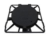 Люк чугунный dn 600 EN-124 C250 51 кг квадратная рама (630 x 850 x 70)