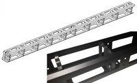 Металлический вертикальный кабельный органайзер 42U, без крышки, черный (Cable management 42U)