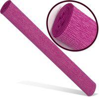 INTERDRUK Бумага креповая INTERDRUK Premium 200x50см т. розовая