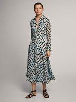 Платье Massimo Dutti Синий с принтом 6609/829/920