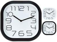 Часы настенные квадратные 30Х30cm, закругленные края, белый/