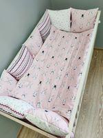 Комплект постельного белья в кроватку Pampy розовый Bunny