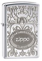 Zippo 24751 American Classic Crown Stamp High Polish Chrome