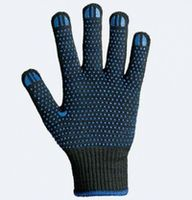 Manusi tricotaj cu puncte PVC negre 667