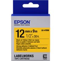 C53S654014 Tape Epson LK4YBW Strng adh Blk/Yell 12/9