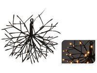 "Световая фигура ""Снежинка-шар"" LED 96cm, черн провод"
