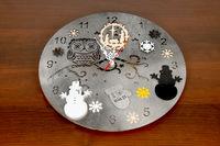 """Часы серые """"Новогодние"""""""