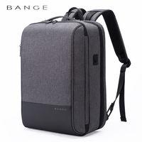 """Мужской многофункциональный рюкзак Bange  K87 для ноутбука 15.6"""", c USB портом, водонепроницаемый, cерый"""