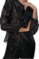 Блуза ZARA Черный с принтом zara 3440/241/800