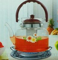 Чайник  стеклянный  с сеточкой  огнеупорный Best For  You