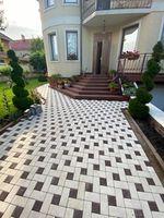 Bибропрессованная тротуарная плитка  (200x100x45mm)