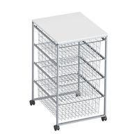 cumpără Container corpus cu 4 boxe 700x490x430 mm, argintiu în Chișinău