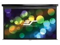 "Elite Screens 106""(16:9) 132,1x234,7cm Manual Pull Down Screen, Black"