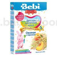 Bebi молочная овсяная каша Premium с персиком 250gr.(5+)