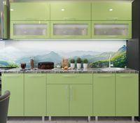 Кухонный гарнитур Bafimob Modern (High Gloss) 2.4m glass Green