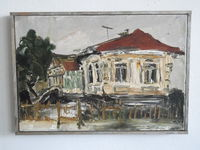 Дом-музей Г. Баковия (Бакэу, Румыния), 24x35, холст, масло