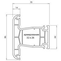 """купить """"Montblanc"""" Nord Импост (70мм, 3.0мм, Класс А) с РЕЗИНОЙ в Кишинёве"""