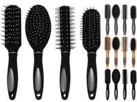 Расческа-щетка для волос (золотая, серебр, черная), 4вида