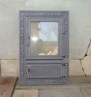 Дверца чугунная co стеклом правая FPM2