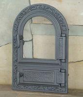 Дверца чугунная со стеклом правая FPM1