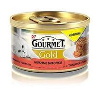 """Gourmet Gold """"Нежные биточки"""" (c говядиной и томатами), 85гр"""