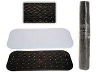 Коврик в ванную антискользящий 36X76cm, черный/белый