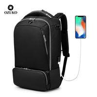 """Рюкзак городской USB для ноутбука 15.6"""", Ozuko 9086, черный"""