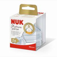 Соска силиконовая NUK NS для жидкостей S (0-6 мес) 2 шт
