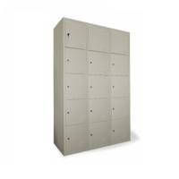 купить Металлический шкаф для хранения сумок 15-и дверный, 1850x1140x450 мм, RAL 9001 в Кишинёве
