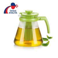 Чайник стеклянный с инфузором TEO 1.25 л, оранжевый,красный,зеленый
