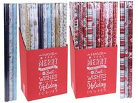 "Набор бумаги для обертки подарков ""X-mas"" 3 ед, H70cm, L1.5m"