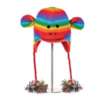 Шапка взрослая Knitwits Stripe Sock Monkey Pilot Hat, А1709