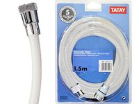 Furtun pentru dus Tatay 1.5m alb, PVC