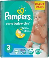 Pampers Active Baby Midi 3 (4-9 кг.) 90 шт.