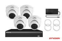 CCTV KIT 5500 5Mp 4 camera 4channel PoE NVR