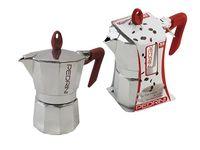 Кофеварка на 3 чашки Pedrini, алюминевая классическая