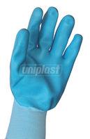 Перчатки латексные арт.989 (голубые)