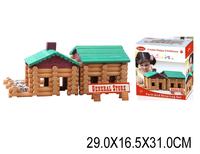 Конструктор деревянный домик 170 штк