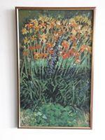 Лилии в цвету, 65x40 см, холст, масло