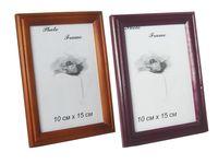купить Фоторамка деревянная 10X15cm, коричневая/бордо в Кишинёве